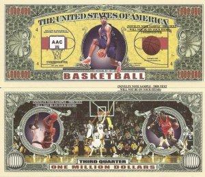 BASKETBALL THIRD QUARTER ONE MILLION DOLLAR BILLS x 4