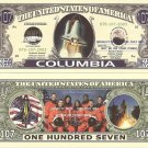 COLUMBIA SPACE SHUTTLE COMMEMORATION DOLLAR BILLS x 4