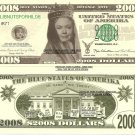 HILLARY CLINTON BLUE STATES 2008 DOLLAR BILLS x 4