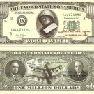 SECOND WORLD WAR WWII PATTON MILLION DOLLAR BILLS x 4