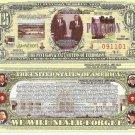 9/11 PENTAGON MEMORIAL DOLLAR BILLS x 4 with Facts