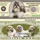 SHIH TZU DOG PUPPY MILLION DOLLAR BILLS x 4 GIFT NEW