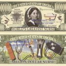 NURSE FLORENCE NIGHTINGALE ONE MILLION DOLLAR BILLS x 4