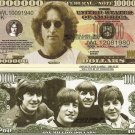 THE BEATLES LENNON MCCARTNEY HARRISON STARR DOLLAR BILLS SET of 8