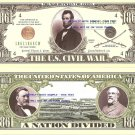 US CIVIL WAR 1861-1865 LINCOLN DAVIS DIXIE DOLLAR BILLS