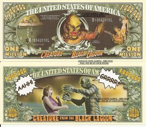 CREATURE FROM THE BLACK LAGOON MILLION DOLLAR BILLS x 4