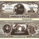 THE HUNCHBACK OF NOTRE DAME C LAUGHTON DOLLAR BILLS x 4