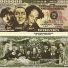 THE THREE STOOGES VAUDEVILLE COMEDY ACT DOLLAR BILLS x 4