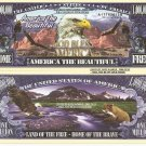 AMERICA THE BEAUTIFUL MILLION DOLLAR BILLS x 4 EAGLE
