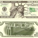 Statue of Liberty Brooklyn Bridge Trillion Dollar Bills x4 New York City America