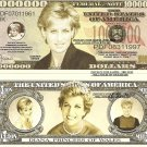 Diana Princess of Wales Commemorative Dollars Bills x 4 Royalty