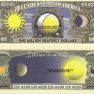 Sun Moon Celestial Bodies Heavenly Dollar Bills x 4 New