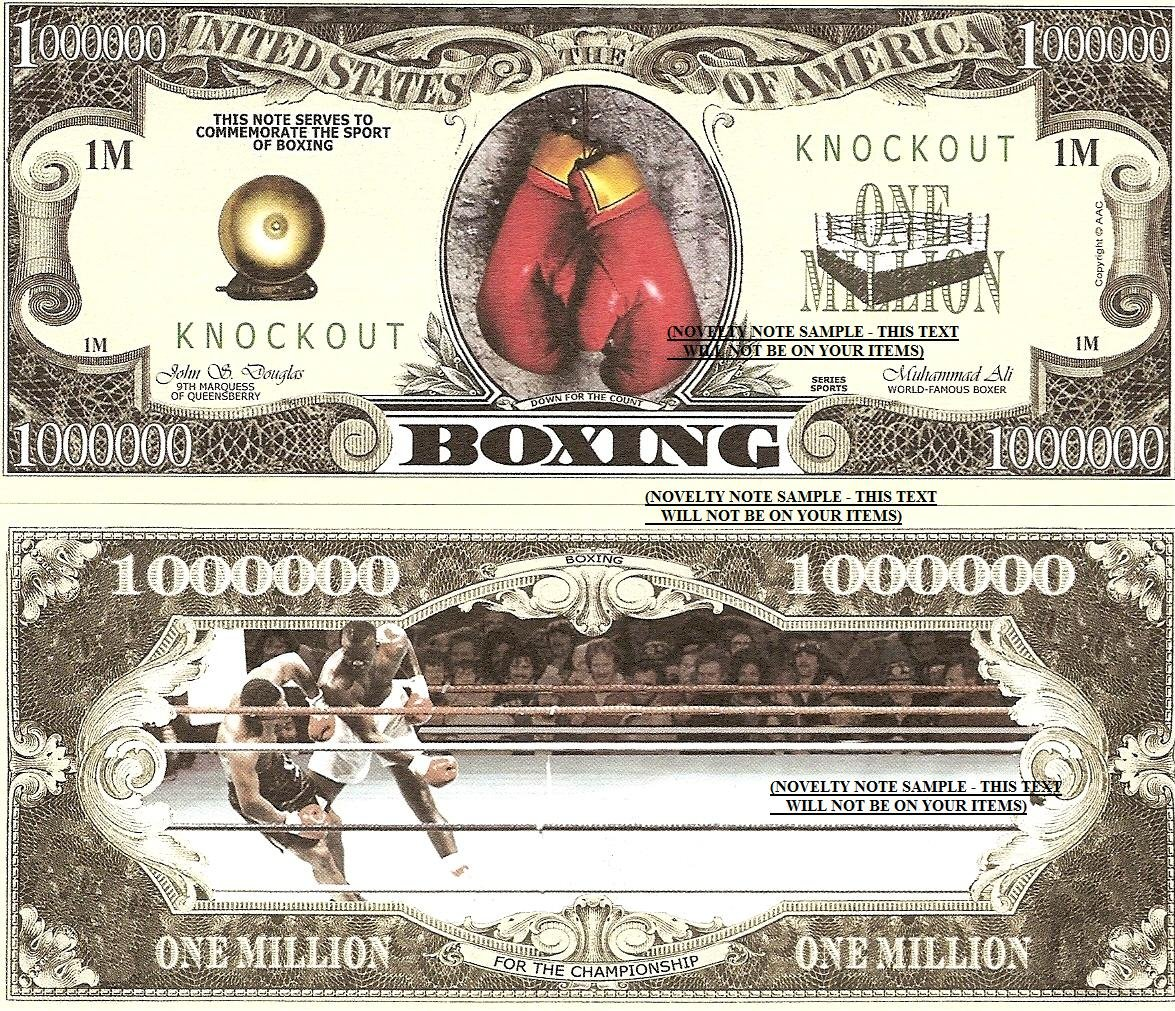 Boxing for the Championship Sport Dollar Bills x 4 New