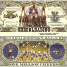 Cheerleading Cheer Leader Million Dollar Bills x 4 New American Sports