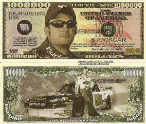 Dale Earnhardt Junior Junebug Million Dollar Bills x 4 Stockcar NASCAR