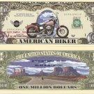 American Biker Million Dollar Bills x 4 Live to Ride Born to be Wild