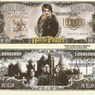 Harry Potter Wizard Million Dollar Bills x 4