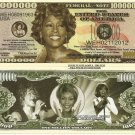Whitney Houston Commemorative Million Dollar Bills x 4 American Singer Actress