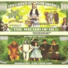 The Wizard of Oz Million Dollar Bills x 4 Yellow Brick Road Dorothy