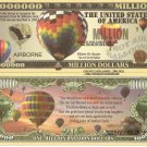 Hot Air Balloon Airborne Million Dollar Bills x 4 Launch 1783 Pilatre De Rozier