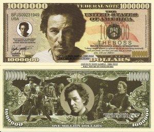 Bruce Springsteen The Boss Million Dollar Bills x 4 American Singer Songwriter