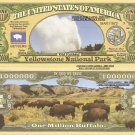 Yellowstone National Park Old Faithful Dollar Bills x 4 Worlds First America