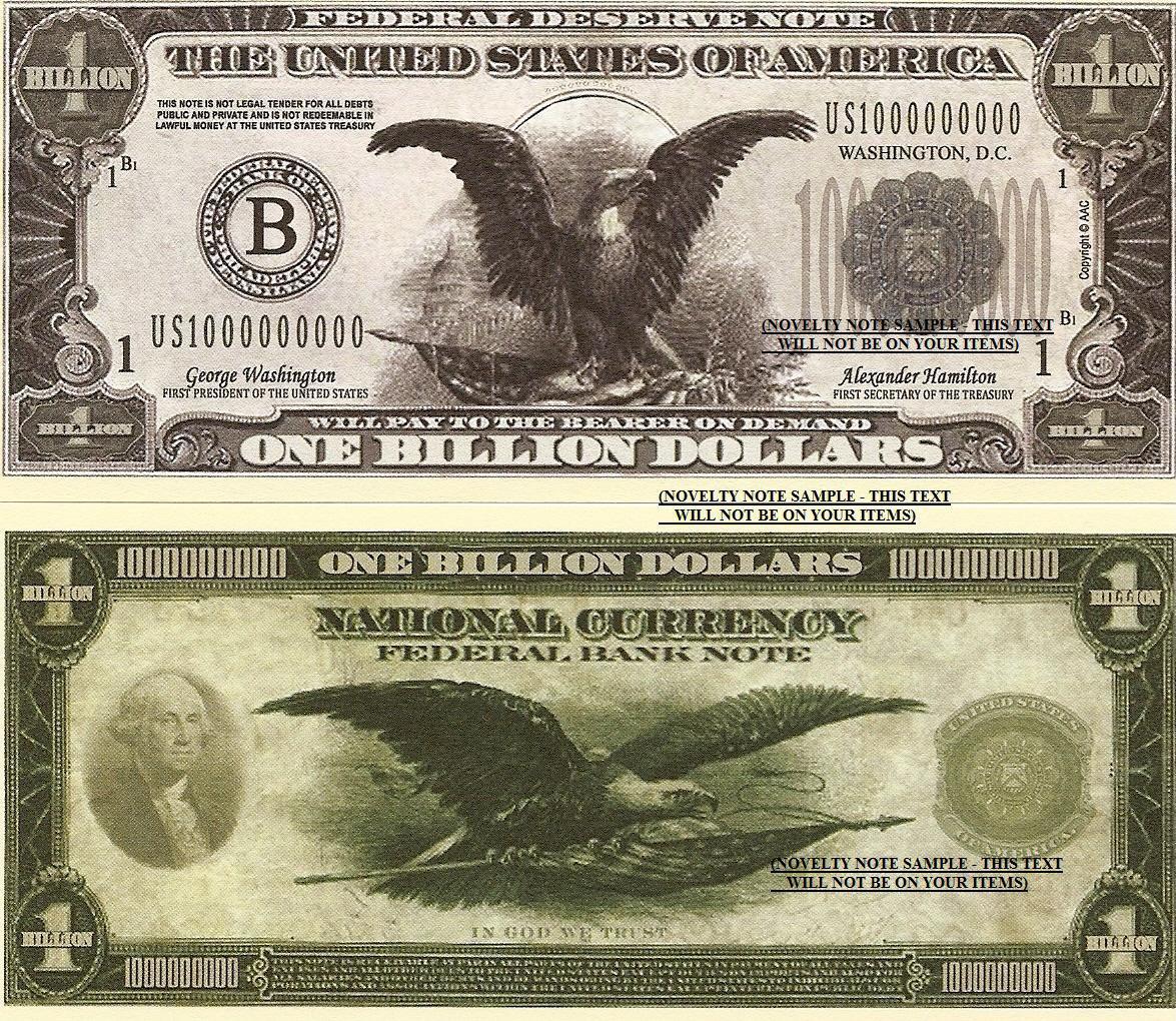 American Eagle Stars Stripes Billion Dollar Bills X 4
