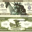 Statue of Liberty Eagle One Trillion Dollar Bills x 4 United States America