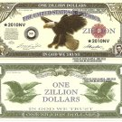 United States Eagle One Zillion Dollar Bills x 4 American
