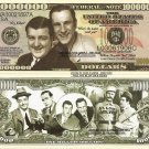Abbott and Costello American Comedy Legends Million Dollar Bills x 4 New