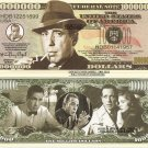 Humphrey Bogart Million Dollar Bills x 4 American Icon Film Actor New