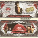 The Rocky Horror Picture Show Million Dollar Bills x 4 Frank N Furter Time Warp