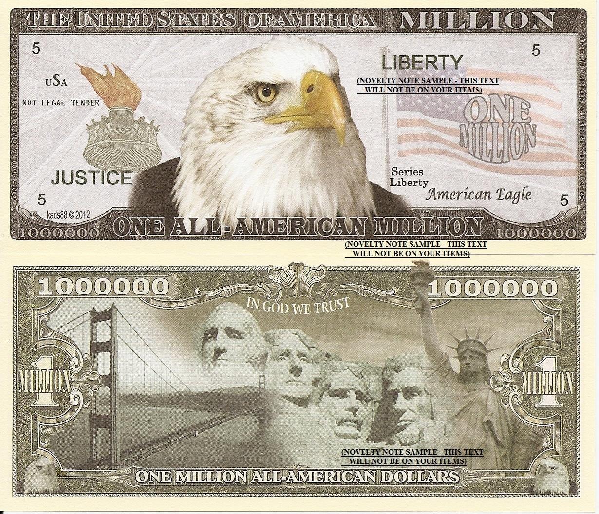 EAGLE BILLION DOLLAR NOVELTY BILL