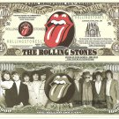 The Rolling Stones 50th Anniversary Million Dollar Bills x 4 Rock N Roll Band