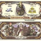 The Legend of Zelda Link One Million Dollar Bills x 4 New