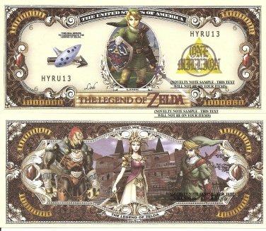The Legend of Zelda Link One Million Dollar Bills x 4 New