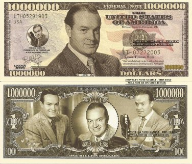 Bob Hope Leslie Townes Comedian Commemorative Million Dollar Bills x 4 Comedy