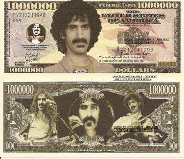 Frank Vincent Zappa Commemorative Million Dollar Bills x 4 Rock Music Singer