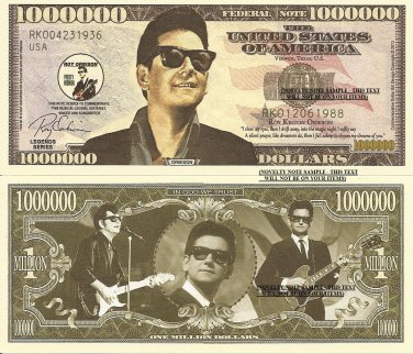 Roy Kelton Orbison Commemorative Million Dollar Bills x 4 Singer Song Writer
