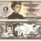 Audrey Hepburn Kathleen Ruston Million Dollar Bills x 4 British Actress
