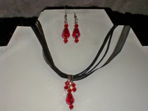 Swarovski Crystal Earrings and Necklace