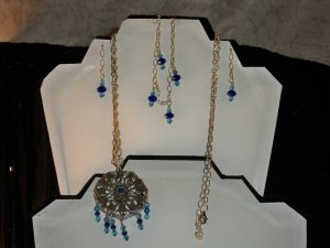 Swarovski Crystal Necklace, Earrings, and Bracelet