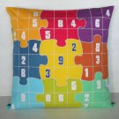 "Sudoku Game(4) on 16""x16"" batik painted cushion cover"