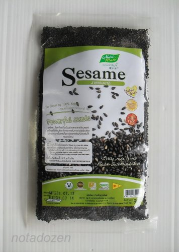 NUTRI MATE Oven Roasted Black Sesame Seed Whole Grain 90g. Add Soup,Milk,Dessert,Salad