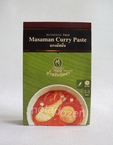 NITTAYA THAI CURRY Masaman Curry Paste 50g.Thai Food Ingredient