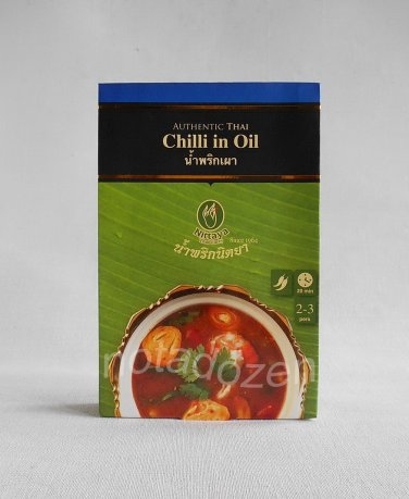 NITTAYA THAI CURRY Chilli in Oil 50g.For Tom Yam/Spicy salad/Thai Food condiment