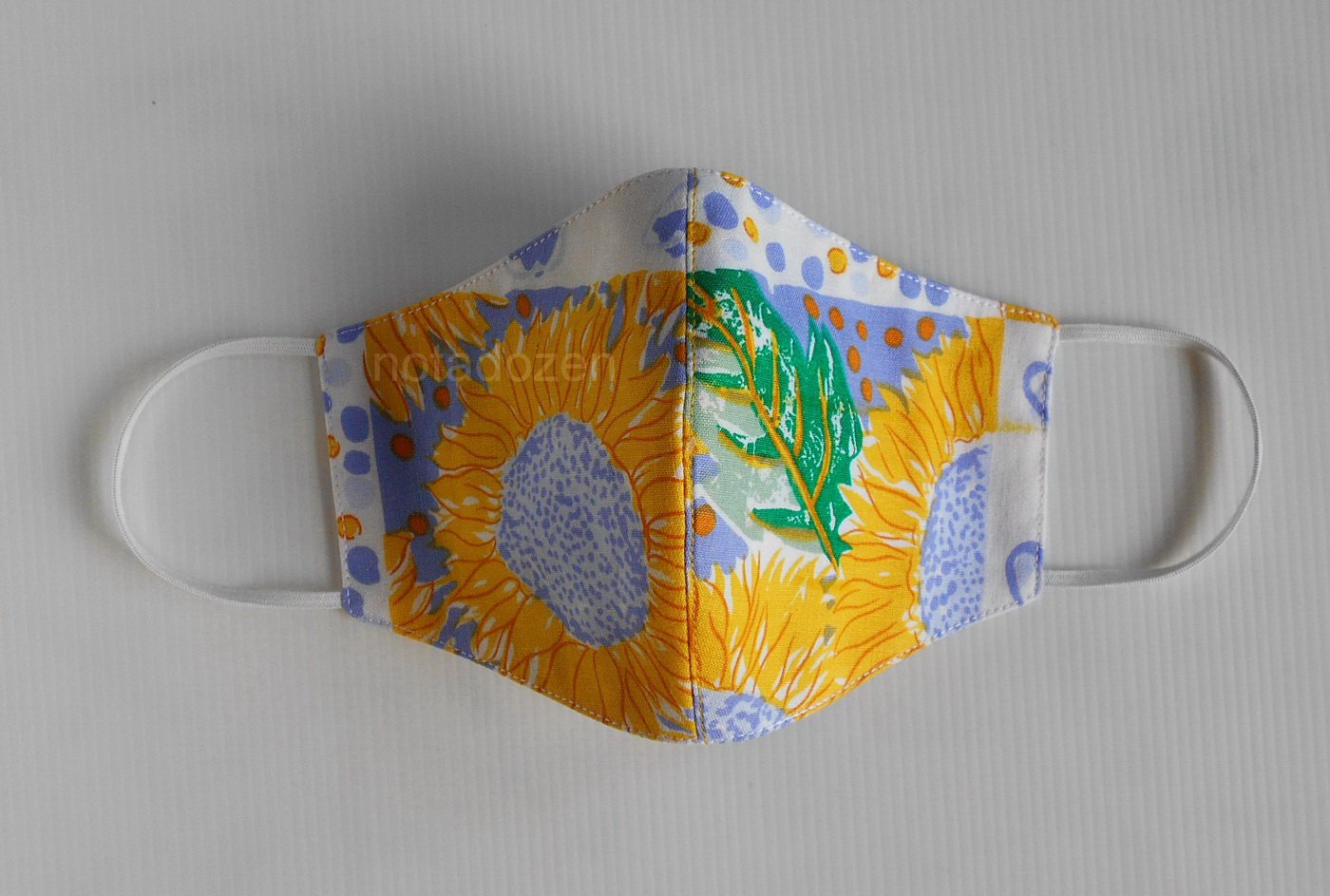 Handmade 3D Face Mask- Washable and Reusable with filter pocket and nose wire/bright sunflower(#2)