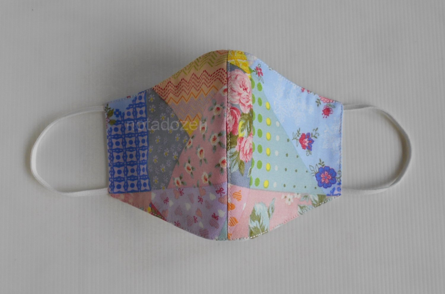 Handmade 3D Face Mask- Washable and Reusable with filter pocket and nose wire size 22x13cm.(#7)