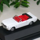 High Speed 1/87 Diecast Car 1/2 Ford Mustang Cabrio 1964 WHITE Classic Car (5cm)