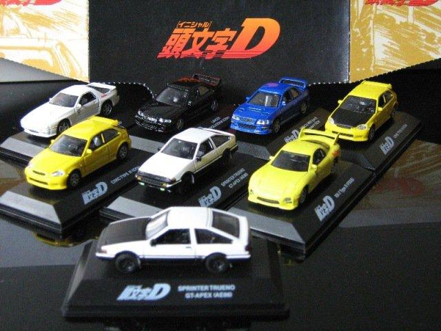 INITIAL D 1/72 Diecast Car SET ( Mazda, Subaru,Toyota,Honda,Mitsubishi ) 8 Nos